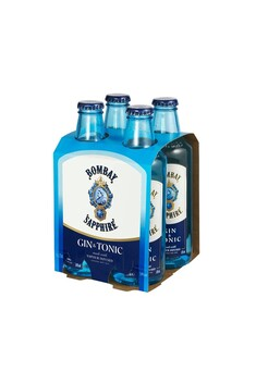BOMBAY SAPPHIRE GIN AND TONIC 4 PACK