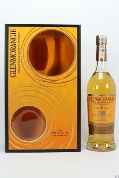 GLENMORANGIE ORIGINAL 10YO 700ML 40% GIFT SET WITH 2 GLASSES