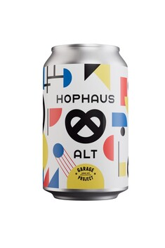 GARAGE PROJECT HOPHAUS ALT GERMAL BRETZEL ALE  5.2% 330ML CAN