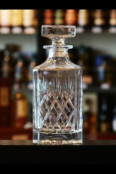 GLENCAIRN SKYE SQUARE CUT CRYSTAL DECANTER