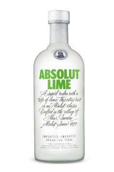 ABSOLUT LIME VODKA 40% 700ML