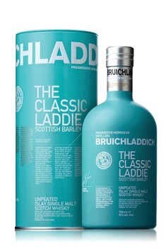 BRUICHLADDICH THE CLASSIC LADDIE 8 YEARS UNPEATED ISLAY SINGLE MALT WHISKY 50% 700ML