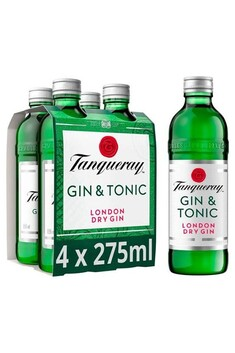 TANQUERAY GIN AND TONIC 5.3% 275ML 4 PACK BOTTLES**SPECIAL**