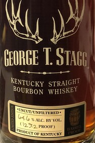 GEORGE T STAGG LIMITED EDITION BARREL PROOF BOURBON 62.45% 124.9 PROOF 750ML