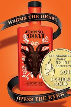 JUMPING GOAT COFFEE VODKA LIQUEUR 33% 750ML